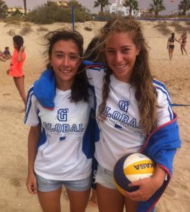 Irene Seleiro y Alba Sánchez, jugadoras ayamontinas.