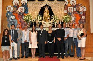 Las autoridades junto a la Pregonera, Herman Mayor y Presidente del Consejo (1)
