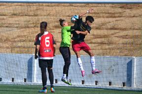 Partido de pretemporada Sporting-Huelva Atlético cadete.