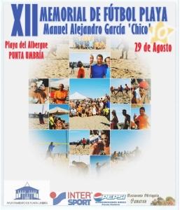 Cartel del Memorial Manuel Alejandro García 'Chico' en Punta Umbría.