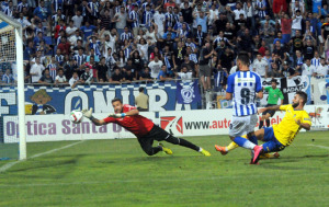 Gol anulado por fuera de juego a Rubén Mesa. (Espínola)