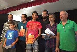 Algunos de los ganadores del Open de ajedrez de Cartaya.