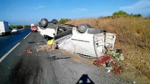 Accidente furgoneta Bonares Niebla
