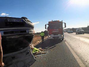 Accidente furgoneta Bonares Niebla1