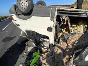 Accidente furgoneta Bonares Niebla2