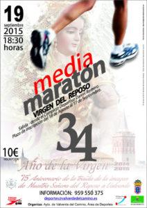 Cartel de la Media maratón en Valverde del Camino.