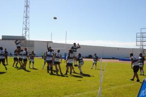 Partido de rugby entre el Bifesa Tartessos y el Ciencias B de Sevilla.