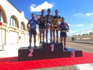 Podium máster 30 del Circuito de la Vendimia en La Palma del Condado.