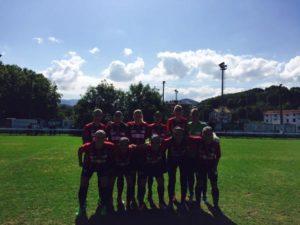 Once del Cajasol Sporting ante el Oiartzun.