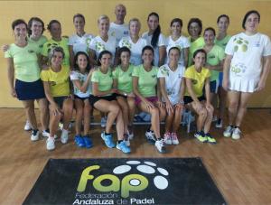 Selección femenina provincial de veteranos de pádel.