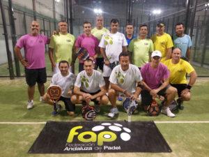 Selección masculina provincial de veteranos de pádel.