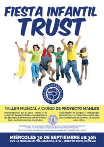 Cartel de la fiesta infantil del Recreativo Supporters Trust.