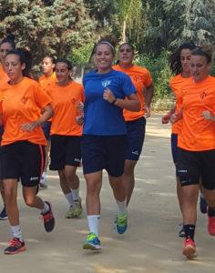 Entrenamiento del Fundación Cajasol Sporting.