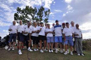 Equipo inglés de golf en Costa Esuri.