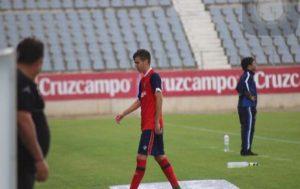 Dani Molina fue expulsado ante el Jaén. (Javier del Camps)