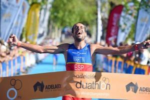 Emilio Martín, campeón del Mundo de Duatlón en Australia.