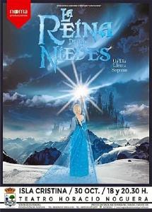 Cartel de la obra teatral La Reina de las Nieves