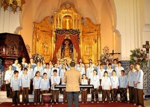 El Coro Juvenil Alegria de Madrid durante su actuacion