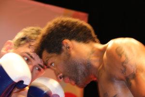 Velada de boxeo en el Gran Teatro.