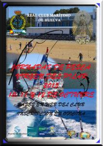 Cartel del Concurso de Pesca en el Club Marítimo de Huelva.