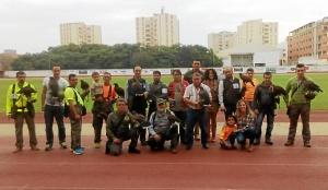 Los participantes en el Campeonato Andaluz de Bajo Vuelo