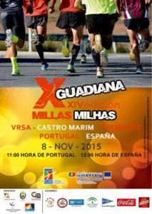Cartel de las X Millas del Guadiana.