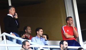 Alejandro Ceballos tuvo que ver el partido desde la grada. (Madrid)