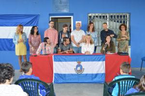 Emilio Martín inaugura la nueva sede del Club Arcoiris de atletismo de San Juan del Puerto.