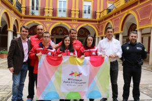 Integrantes del CODA para los Campeonatos de Europa de natación.