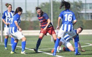 Partido entre el FC Barcelona y el Fundación Cajasol Sporting.