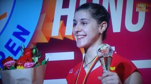 Carolina Marín, ganadora del Abierto de Hong Kong.
