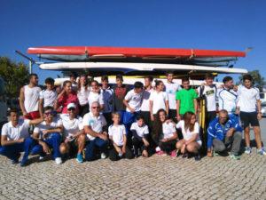 Equipo de piragüismo del Real Club Marítimo de Huelva.