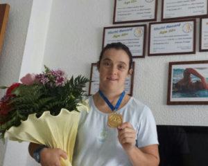María Leandro, nadadora onubense.