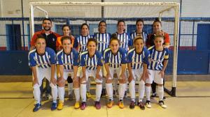Equipo femenino del Recreativo Autoparts de fútbol sala.