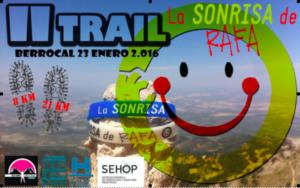 Cartel del II Trail 'La sonrisa de Rafa'.