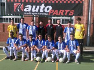Equipo juvenil del Recreativo Autoparts de fútbol sala.