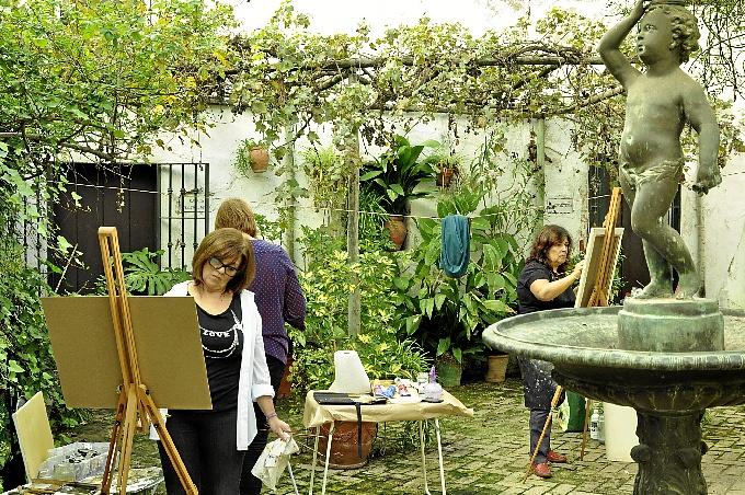 Encuentro de pintura al aire libre en el Palacio del Marqués de Ayamonte