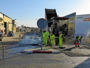 asfaltado en moguer