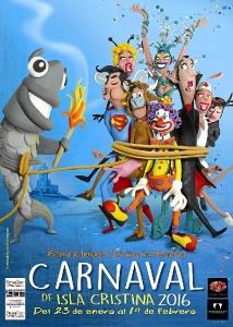 Cartel Carnaval Isla Cristina 2016