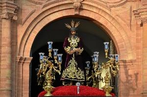 Imagen del Cautivo en la semana santa de La Palma del Condado.