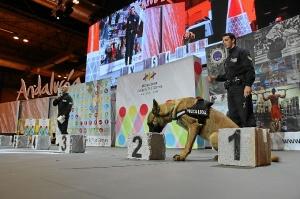 exhibicion canina policia  en fitur 4303