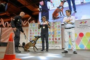 exhibicion canina policia en fitur  4385