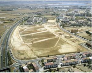 Vista aérea de la zona del yacimiento La Orden-Seminario