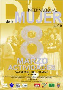 CARTEL 8 DE MARZO Valverde 2016