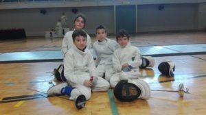 Benjamines del Club Esgrima Huelva.