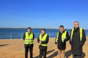 Visita de Mario Jimenez al Paseo del Puerto de Huelva
