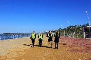 Visita de Mario Jimenez al Puerto de Huelva feb16