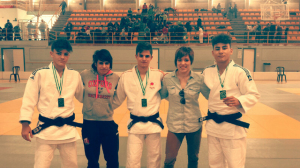 Integrantes del Huelva TSV de judo.