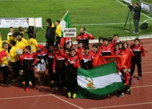 Fútbol base de Cartaya en el Mundialito.