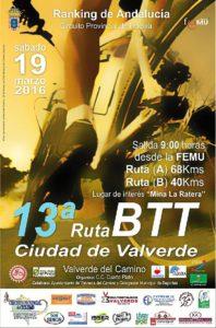 Cartel BTT Valverde